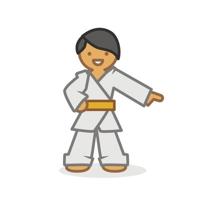 Judoka pointing 2