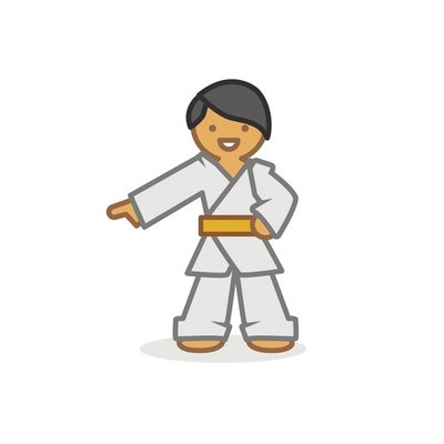 Judoka pointing