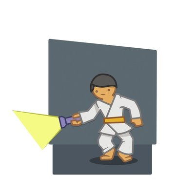 Judoka torch background