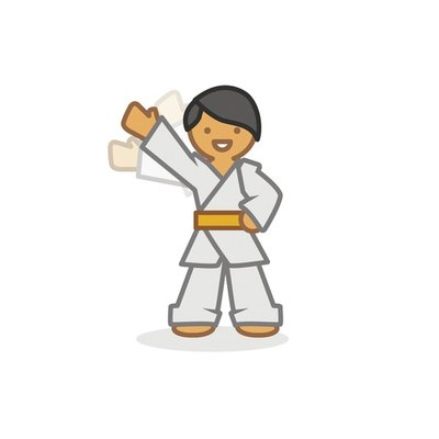 Judoka waving