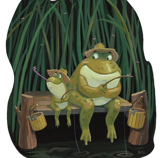 - fish, fishing, frog, pond