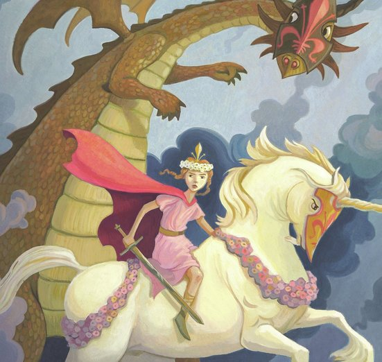 - adventure, battle, clouds, dragon, fantasy, girly, pink
