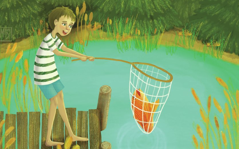 - character, colorful, fish, fishing, kids, nature, outdoors