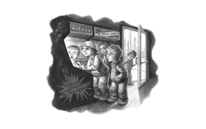 - arcade, boy, boys, bully, door, games, gang