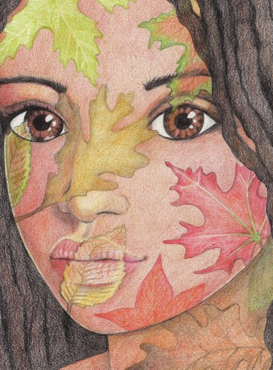Autumn Leaves Girl