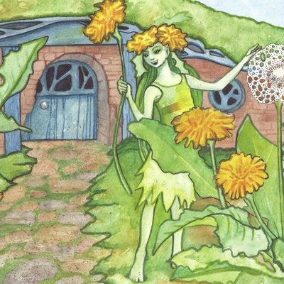 Dandelion Pixie at Home