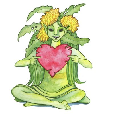 Dandelion Pixie with Heart