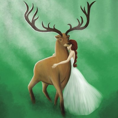 The lady and the King of the Woods