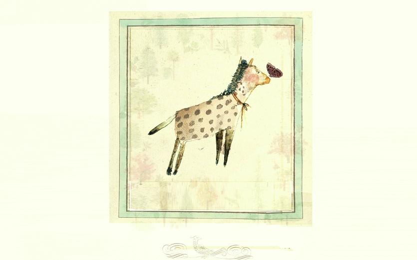 - adorable, animal, beige, brown, butterfly, cartoon, cartoony