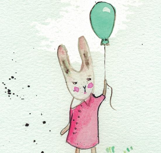 - adorable, animal, annoyed, balloon, beige, bunny, cartoon