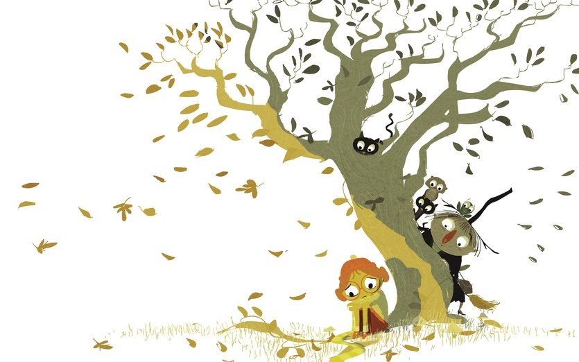 peeking by the tree by pascal campion on storybird