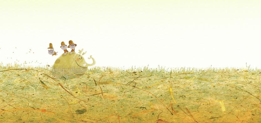 - adorable, alone, brightcolored, brightcolors, calm, cartoon, cartoony