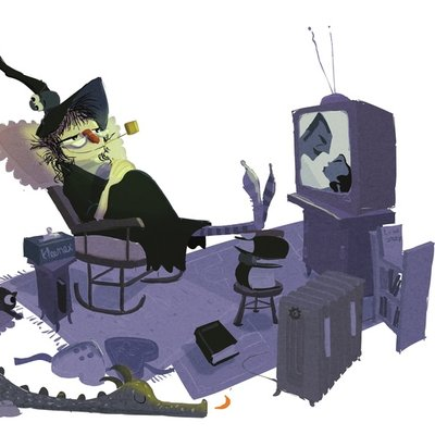 witch at home