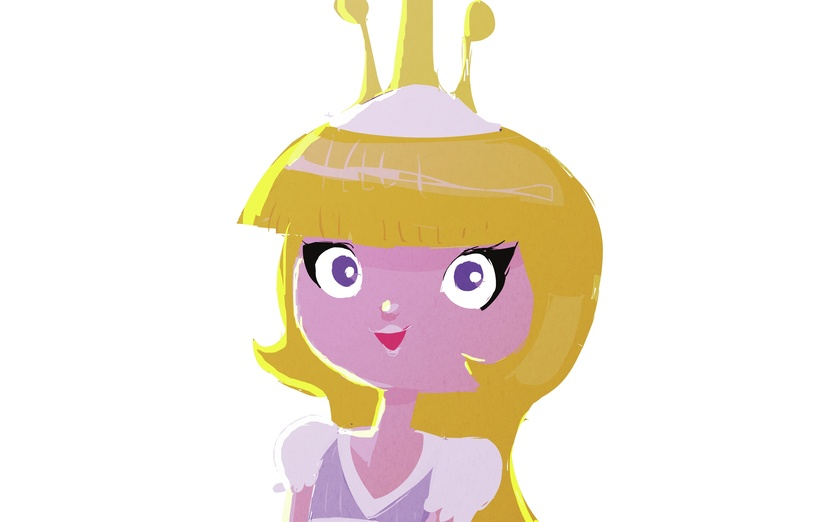 - adorable, blond, blonde, cartoon, cartoony, character, cheerful