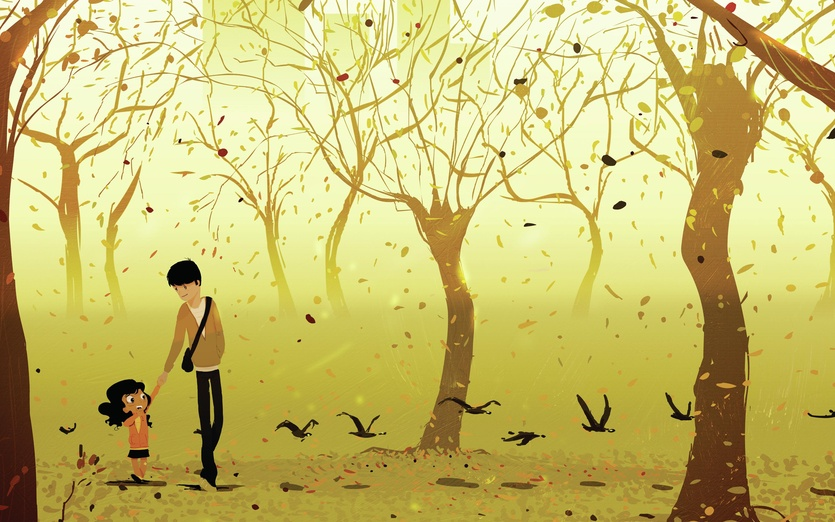 walking with dad by pascal campion on storybird
