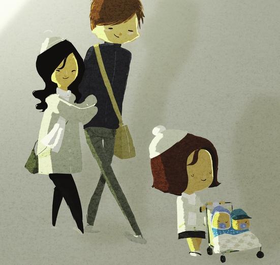 - bags, black, blue, brown, cartoon, cartoony, child
