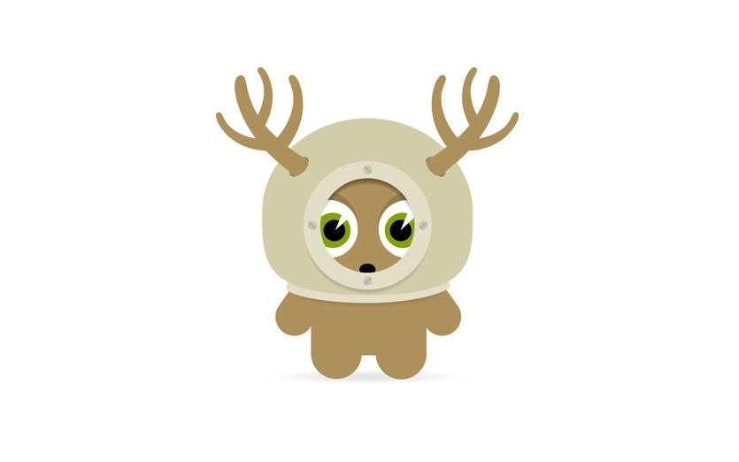 - afraid, animal, antlers, beige, bigeyes, brown, character