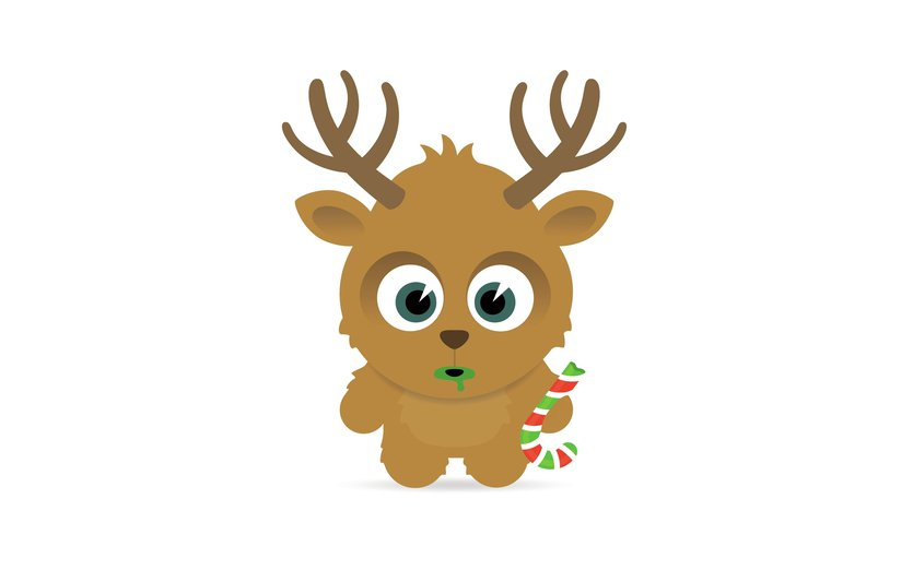 - animal, antlers, blitzen, blue, brrrr, candy, cane