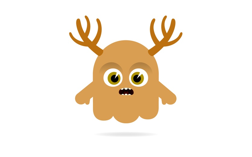 - animal, antlers, anxious, art, beige, bigeyes, brown