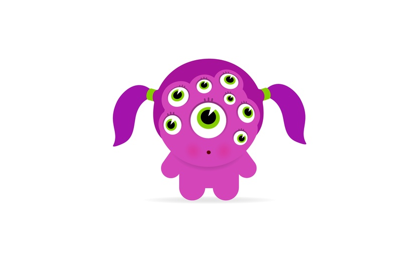- alien, bigeyes, bizarre, blushing, character, creature, different