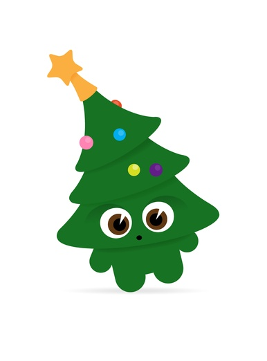 how to draw little christmas tree decarations