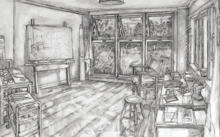 - abandoned, artistsstudio, auckland, black, box, branches, canvas