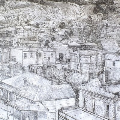 Towards Mt Eden - from Eden Tce 1904
