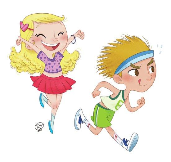 - boy, cartoon, cheerleading, children, colour, girl, kids