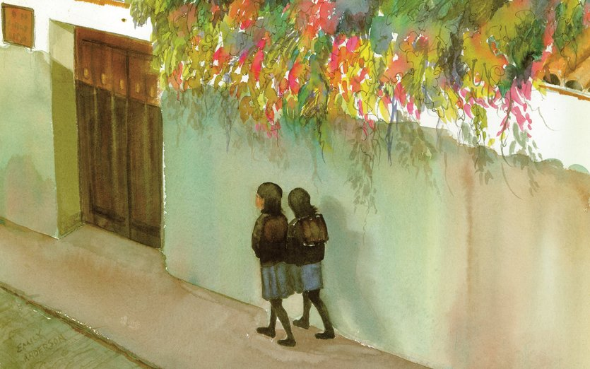 - america, body, children, ecuador, emily, flowers, girls