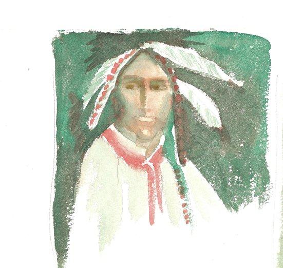 - american, child, man, native, portrait