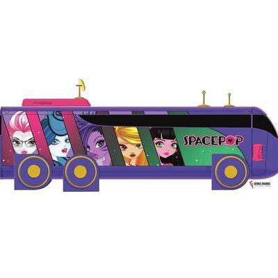 SpacePOP tour bus side view | SpacePOP