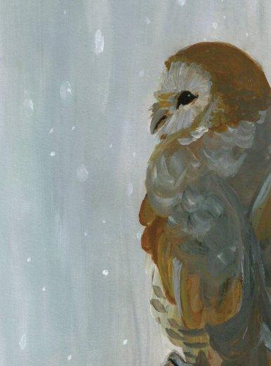 Winter Animals-Barn Owl