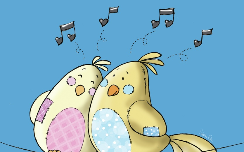 - adorable, affection, art, be, beige, birds, blue