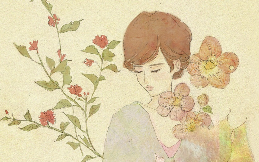 - brown, closedeyes, delicate, dream, fish, flora, flower