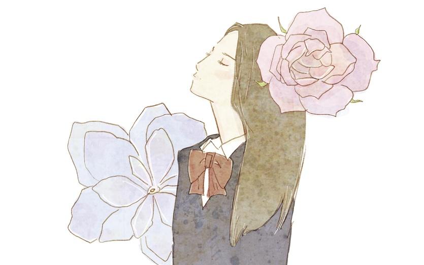 - air, brown, closedeyes, cute, dream, flower, flowers