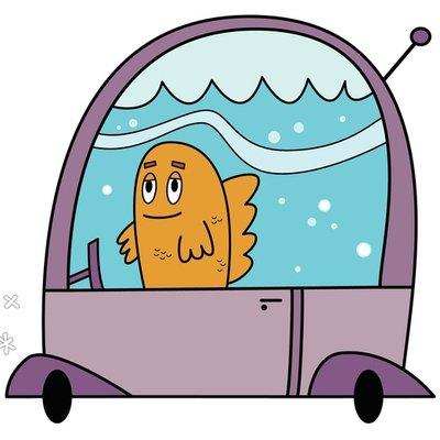 Fish Driving Car