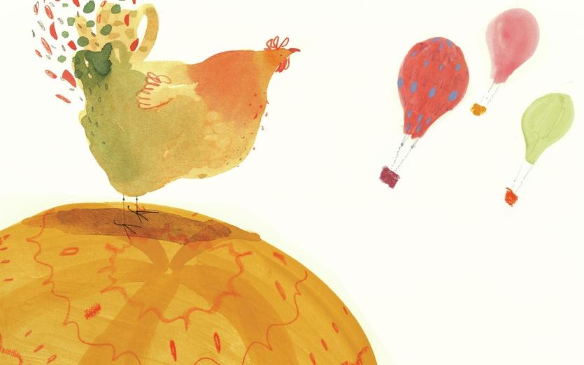 - adorable, balloon, cartoon, cartoony, character, chicken, colored