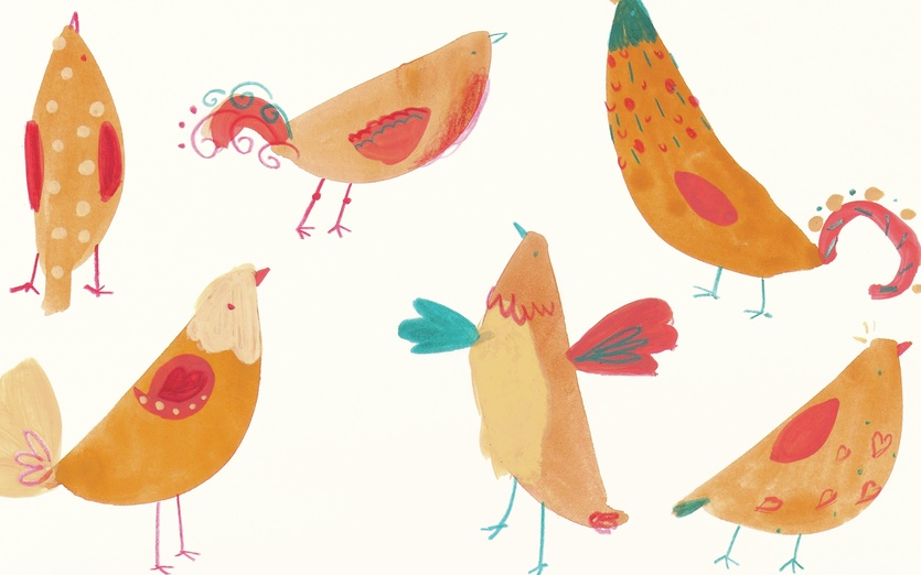 - adorable, beige, birds, cartoon, cartoony, character, colored