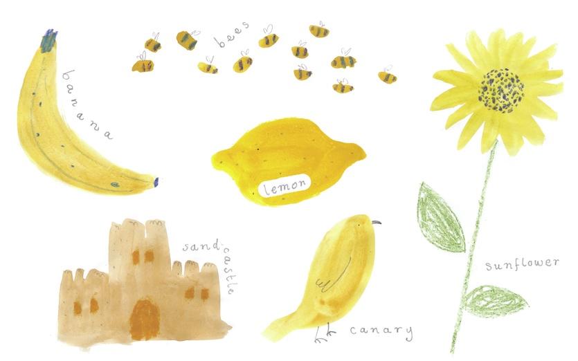 - banana, bird, brown, cartoon, cartoony, collecting, colored