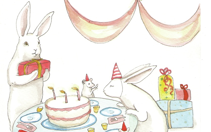 - adorable, animals, birthday, birthdayparty, blow, blue, bunnies