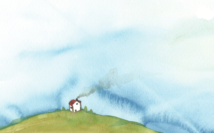 House And The Blue Sky By Bluedogrose On Storybird