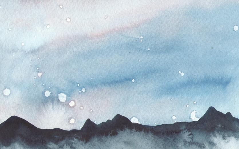 - black, blue, cartoon, cartoony, clouds, cold, colored