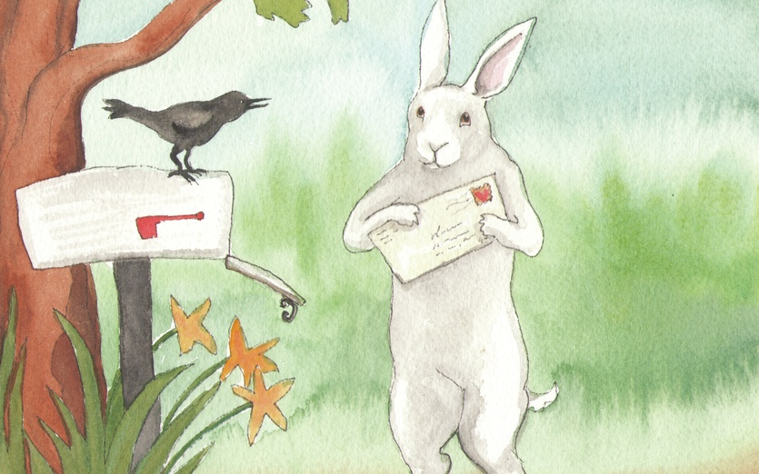 Bunny Letter | Rabbit With Letter By Bluedogrose On Storybird