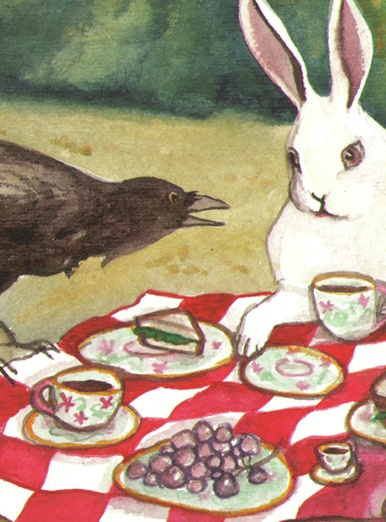 bunny and crow