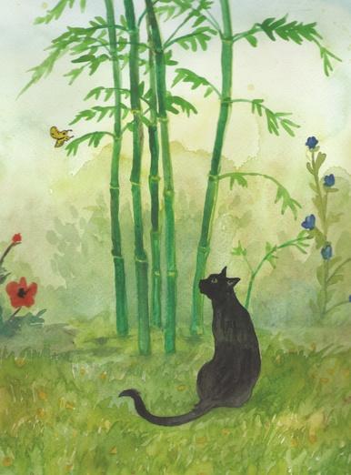 Cat inthe Garden