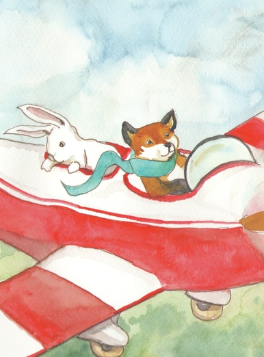 Fox flying