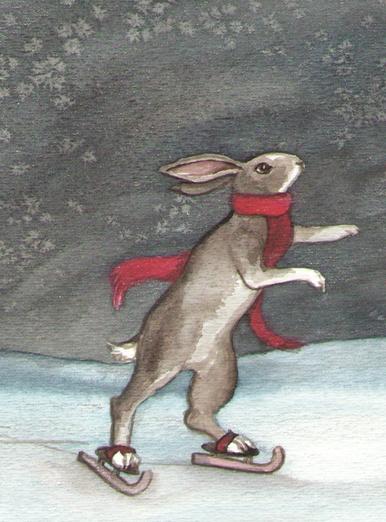 skating bunny