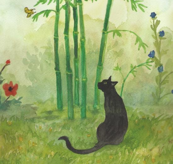 - adorable, animal, black, cartoon, cartoony, cat, colored
