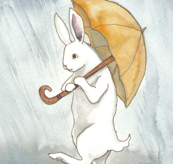 - adorable, animal, art, blue, bunny, cartoon, cartoony