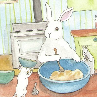 bunnies baking